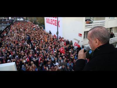 Cumhurbaşkanı Erdoğan, Üsküdar ' da halka hitap etti