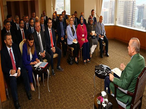 Cumhurbaşkanı Recep Tayyip Erdoğan yöneticilerini ayrı ayrı kabul etti.